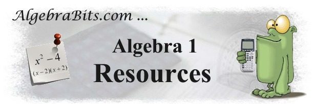 AlgebraBits Resources Table of Contents