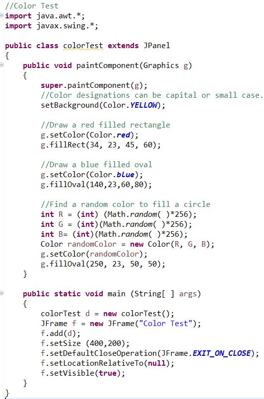 Color - JavaBitsNotebook com
