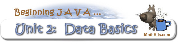 Beginning Java - Unit 2 Math Operators