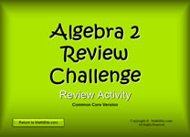Interactive Jeopardy-style PowerPoint Activity for Algebra 2 and Trig