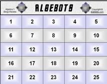 Interactive Bingo Slides for Algebra 1