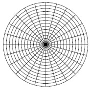 One Full Page Polar Graph Paper · (15º Rays) (blank Paper)
