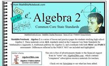 Student and Teacher Resoureces for Algebra 2 and Trigonometry
